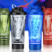 voltrx Shaker Bottle~Pure mechanical design, 5 seconds to shake protein powder and banana into fruit puree!