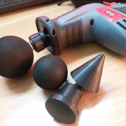 How to use a fascial gun for shoulder muscle massage and  relaxation