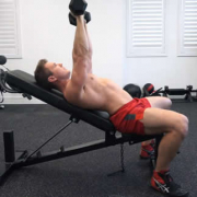 What is the correct posture of the upper incline bench press